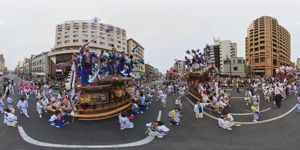 360度同時パノラマ例 ─ 神戸東灘だんじり祭り